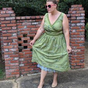 Vintage Inspired Tulle Lined Floral Dress